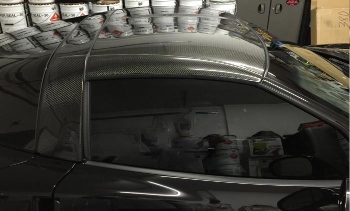 C6 Corvette Carbon Fiber Replacement B Pillar Halo