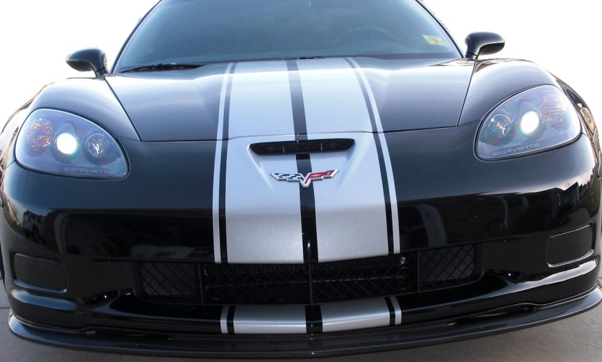 GS, Z06, ZR1 Corvette Acrylic Driving Light Black Out Kit