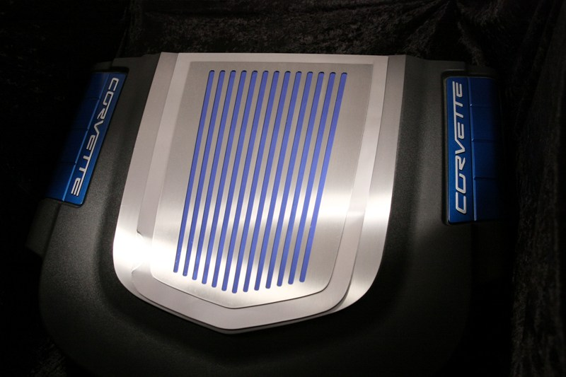 Zr1 Illuminating Stainless Hood Window Frame: ZR1 Stainless Ribbed Engine Shroud Cover