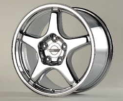ZR-1 Corvette Wheel/ Chrome  (2)17x9.5 & (2)17x11