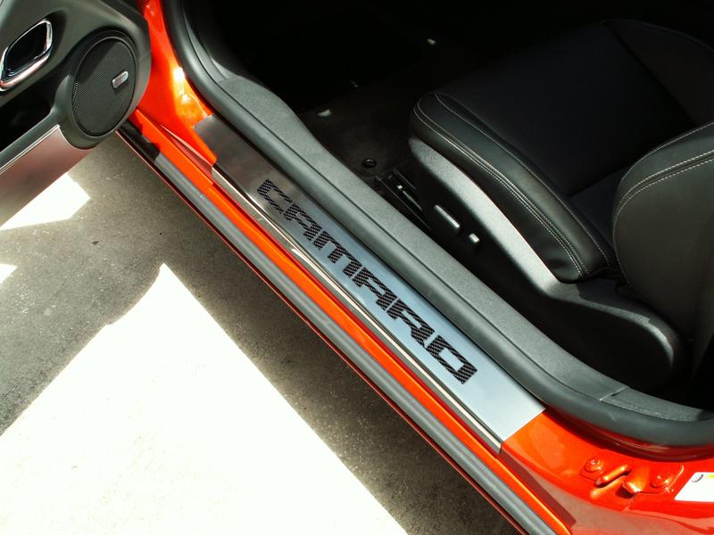 2010-2013 Camaro Door Sill Plates - Brushed/Polished Stainless Steel  CAMARO  Carbon Fiber & 2010-2013 Camaro Door Sill Plates - Brushed/Polished Stainless Steel ...