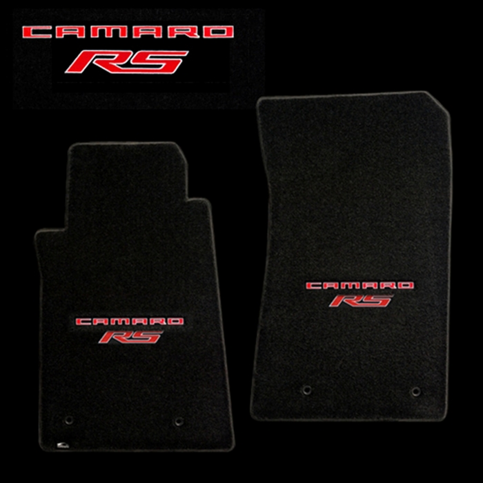 set chevrolet goods soft logo carpet camaro floor shop with embroidered mat interior red black parts mats