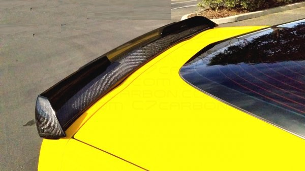 05 13 C7 Z06 Style Stage 2 Style Rear Spoiler Carbon Fiber