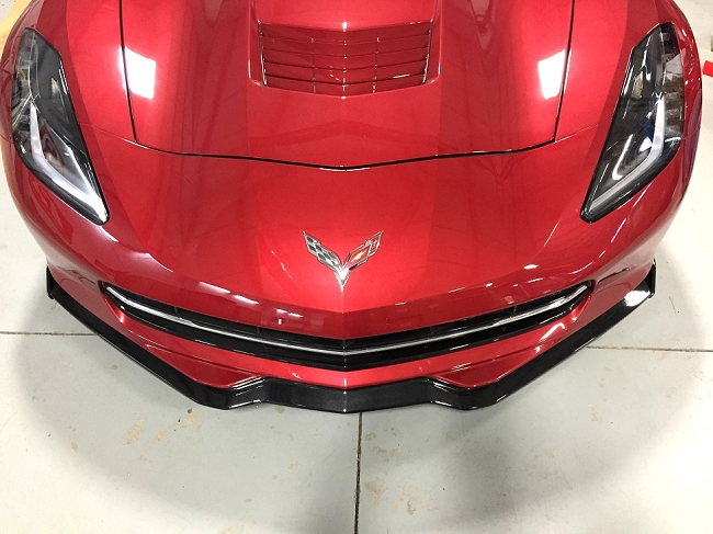 Reproduction Corvette Body >> C7 Corvette Stingray, GS, Z06 Painted Front Splitter With Street Winglets - Available in 19 Colors