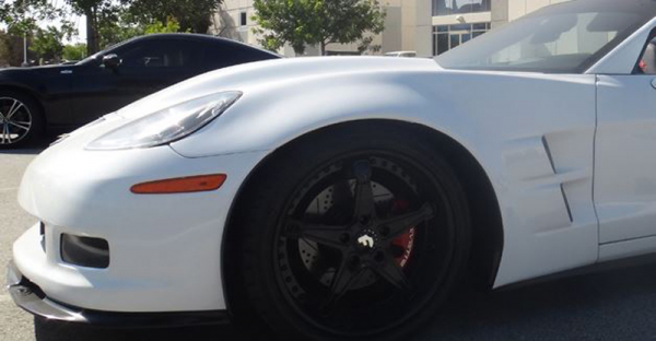 2005-2013 ZR1 Style Corvette Fenders For Base C6 - Pair