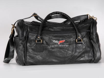 Corvette Leather Bag W/Either C4, C5 or C6 Logo !
