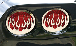 C6 & Z06 Flamed Tail Light Grilles