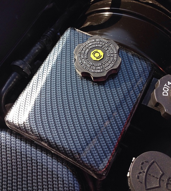 C7 Corvette Carbon Fiber Finished Brake Reservoir Cover