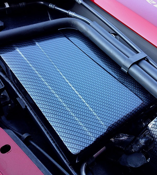C7 Corvette Carbon Fiber Finish Fuse Box Cover