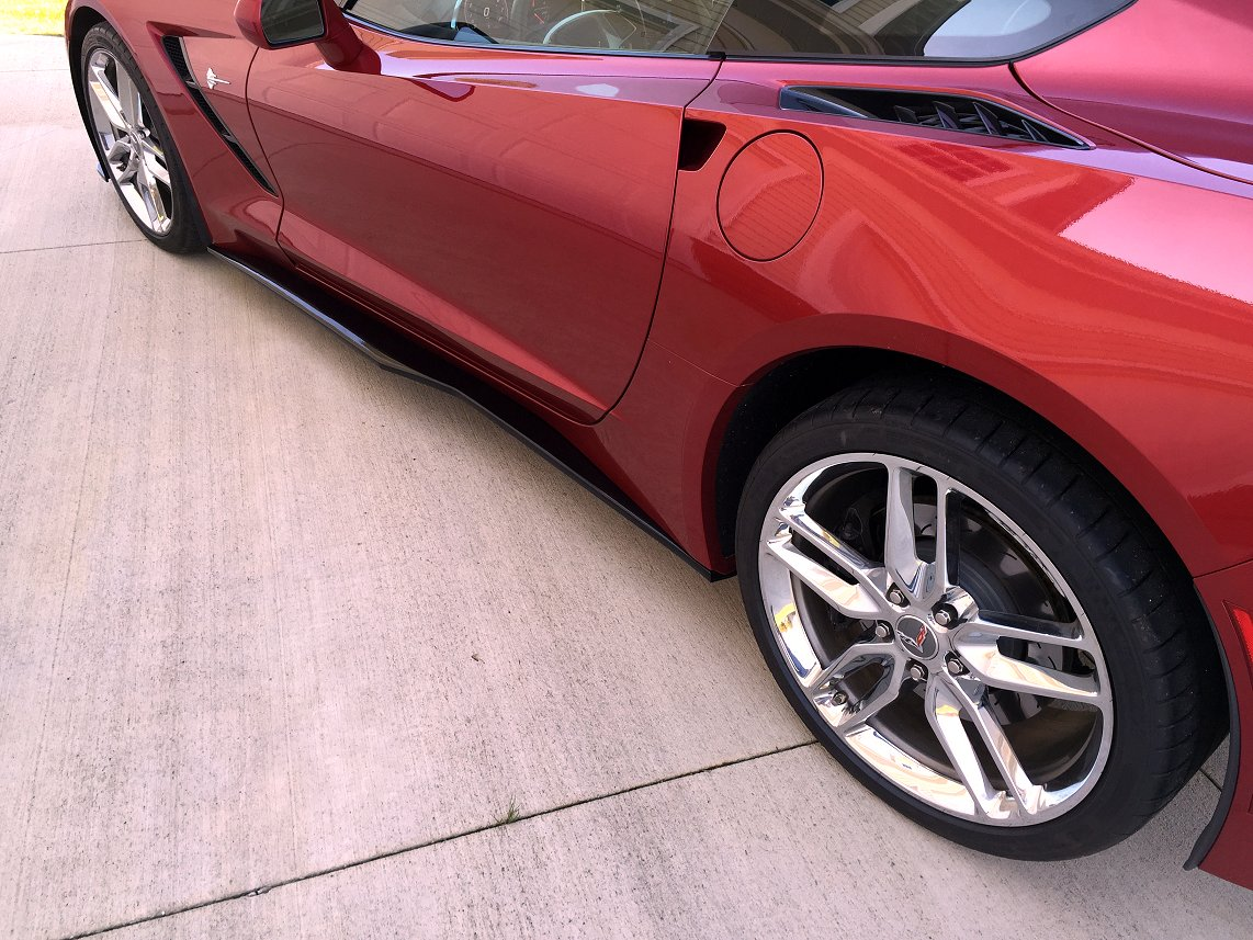 C7 Corvette Stingray Z06 Style Side Skirts - Painted