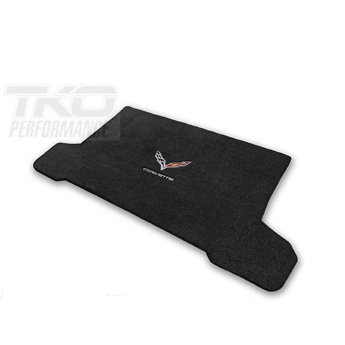 14-19 C7 Lloyds Ultimat Cargo Mat w/C7 Cross Flag & Corvette Script -AVAILABLE IN COUPE & CONVERTIBLE