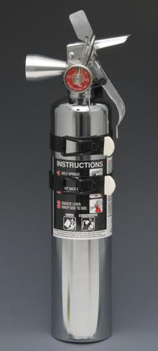 Chrome 2.5 (Clean) Halotron Fire Extinguisher