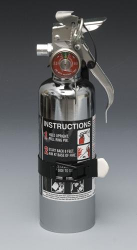 Chrome Halotron 1.4 Fire Extinguisher