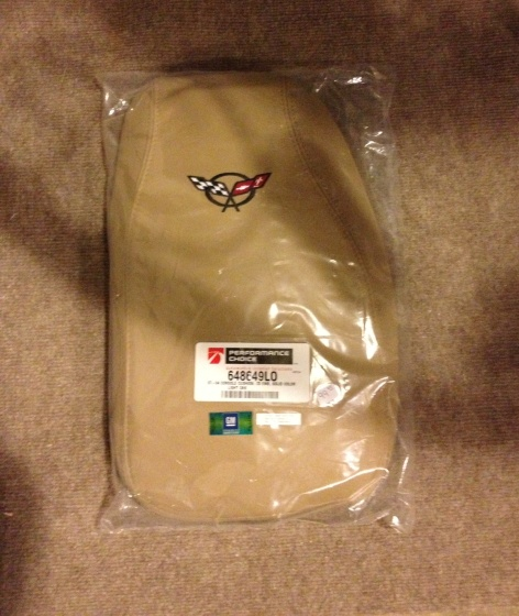 Embroidered C5 Corvette Console Cushions