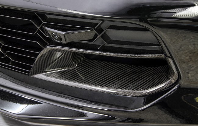 15-18 GS & Z06 Carbon Fiber Front Grille  Brake Duct inserts - (Available in GM Matching Carbon & Tint)