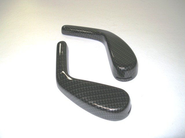 Seat Recline Handles -  Carbon Fiber/Wood Finishes