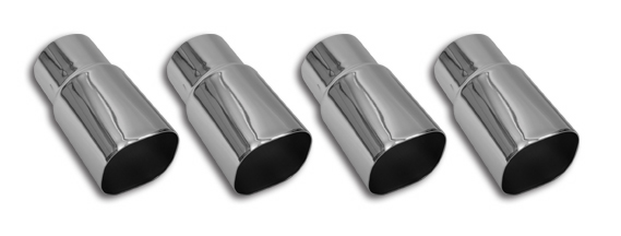 85-91 ZR1 Style Polished Stainless Steel Exhaust Tips