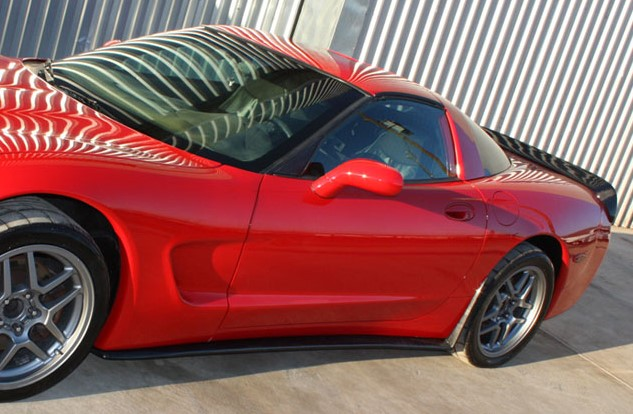 ZR1 style side skirts with Rear Flaps for C5- Carbon Fiber