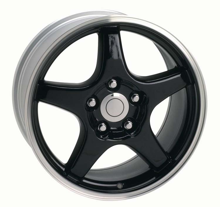 ZR-1 Corvette Wheel / Black (2)17x9.5  &  (2)17x11