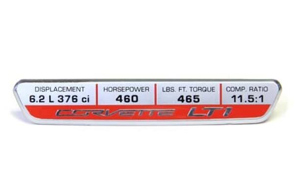 14-16 Interior Dash Trim Badge w/LT1 Performance (460hp)
