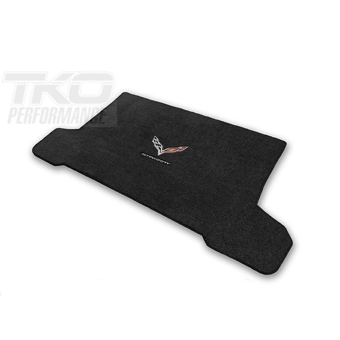 14-18 Lloyds Ultimat Cargo Mat w/C7 Cross Flag & Stingray Script- AVAILABLE IN COUPE & CONVERTIBLE