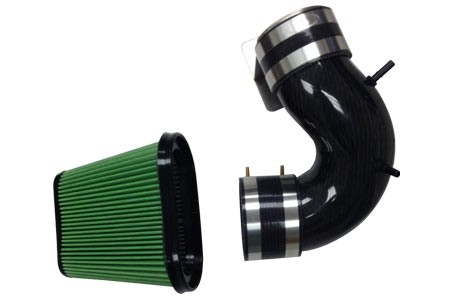 14-16 Corvette LT1 Carbon Fiber Air Intake Duct w/Green Filter
