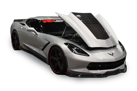 14 Up Corvette Stingray Extractor Hood - CF Top