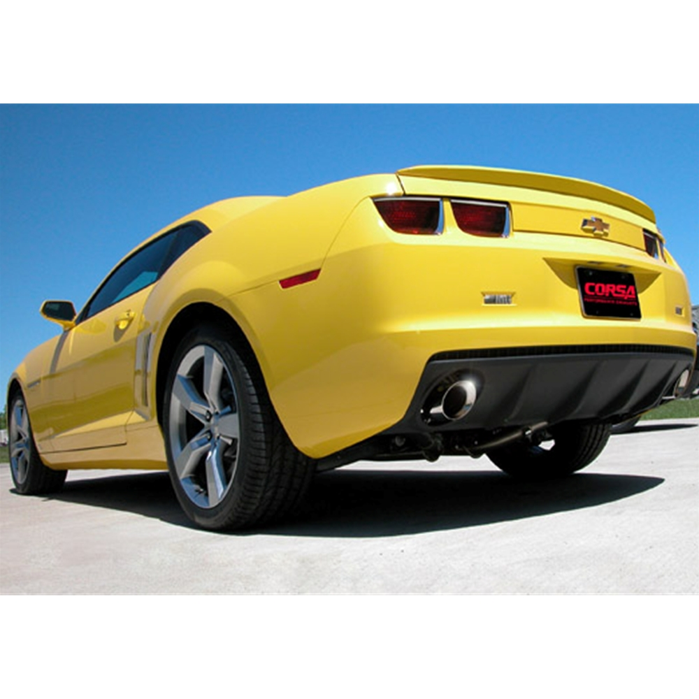Corsa 2010 Camaro 3.6L V6, Sport Cat-Back System with XO-Crossover, 3.5