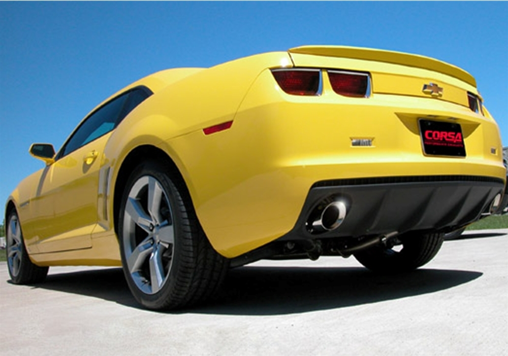 Corsa 2010-2014 Camaro 3.6L V6, Sport Cat-Back System with XO-Crossover, 4