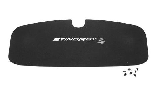 2014-16 Corvette Deck Lid Liner, Stingray Logo - Black