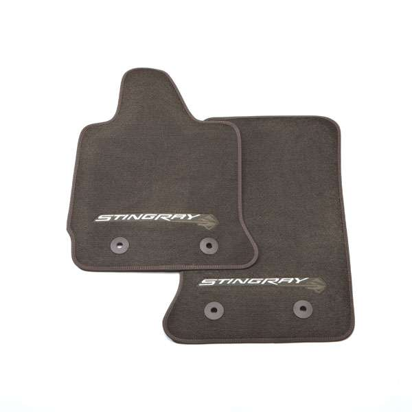2014-18 Corvette Stingray Front Floor Mats with Logo - In All GM Colors