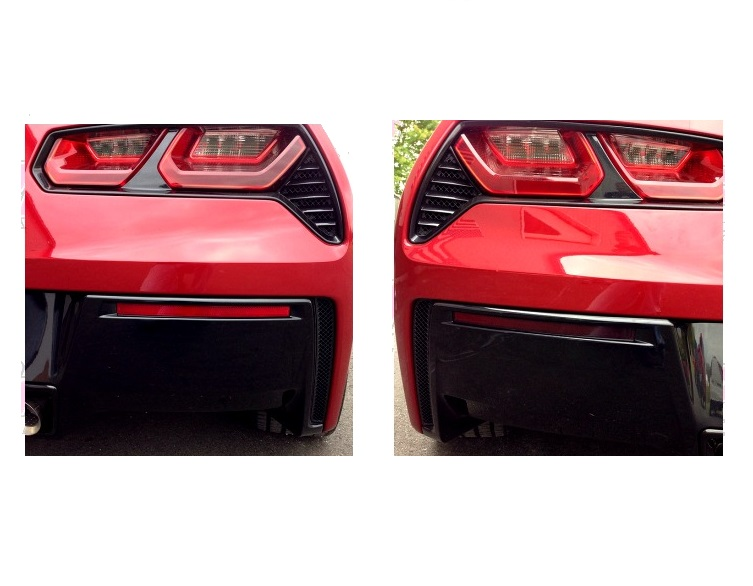 2014 C7 Corvette Stingray Side Vent Mesh Grille Overlay 6Pc Front Polished