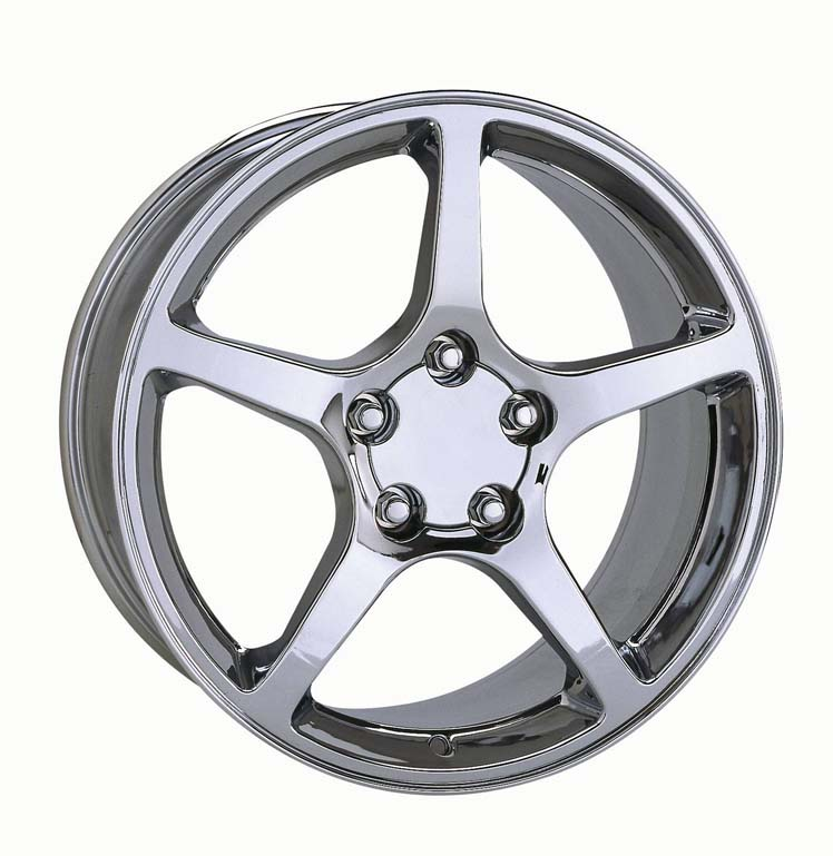 1997-2004 Thin Spoke Style Wheel  Set 18x9.5/17x8.5   / Chrome