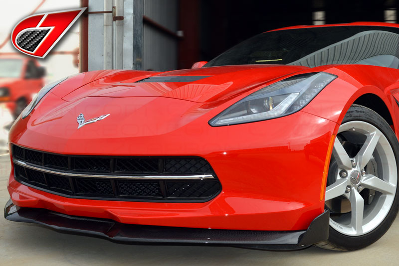 2014 - 19 C7 Corvette | GTX Front splitter w/side splitters | Carbon Fiber