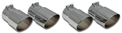 85-91 Angle Cut Stainless Exhaust Tips