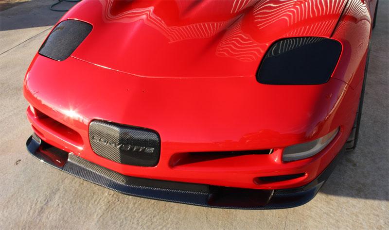 97 04 C5 Corvette Carbon Fiber Zr1 Style Front Splitter