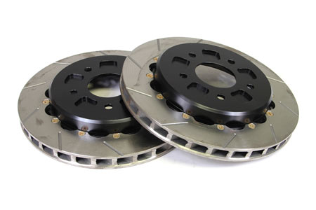 97-13 Corvette Rear 2pc Slotted Brake Rotors w/Park Brake Provision