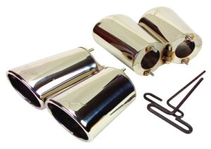 97-00 Engraved Stainless Steel Exhaust Tips