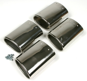 01-04 Polished Stainless Exhaust Tips