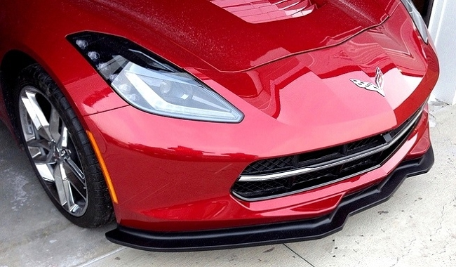 C7 Corvette Stingray Front Splitter Stage 2 - (Painted)