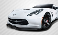 2014-2019 Chevrolet Corvette C7 Carbon Creations Apex Front Splitter - 3 Piece