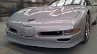 C5 ZR1 Style Front Splitter NON-VENTED-  Fiberglass -  Available in Gloss Black
