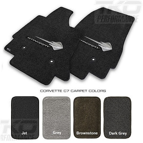 14-19 C7 Lloyds Ultimat Floor Mats w/Stingray Logo & Stingray Script - AVAILABLE IN  ALL FACTORY COLORS