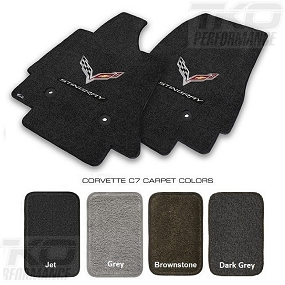 14-19 C7 Lloyds Ultimat Floor Mats w/C7 Cross Flag & Stingray Script - ALL FACTORY COLORS AVAILABLE