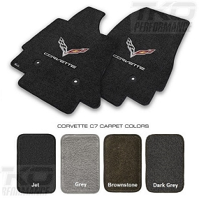 14-19 C7 Lloyds Ultimat Floor Mats w/C7 Cross Flag & Corvette Script - All FACTORY COLORS AVAILABLE