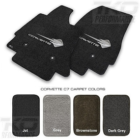 14-19 C7 Lloyds Ultimat Floor Mats w/C7 Stingray Logo & Corvette Script - ALL FACTORY COLORS AVAILABLE
