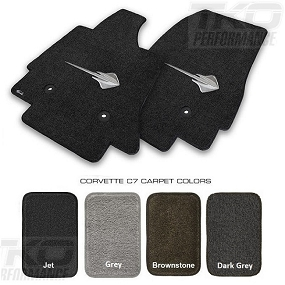 14-18 C7 Lloyds Ultimat Floor Mats w/C7 Stingray Emblem - AVAILABLE IN ALL FACTORY COLORS