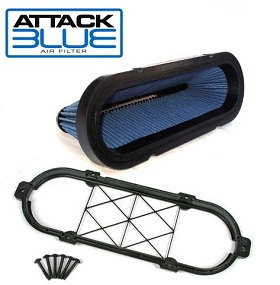 LS9 Attack Blue High Performance Filter - Large Hp Gains (GM Brace Included)