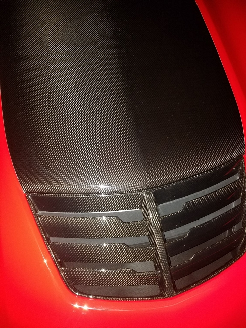Z06 Carbon Fiber Hood Vent / Extractor (GM O E Matching Carbon & Tint  Available)