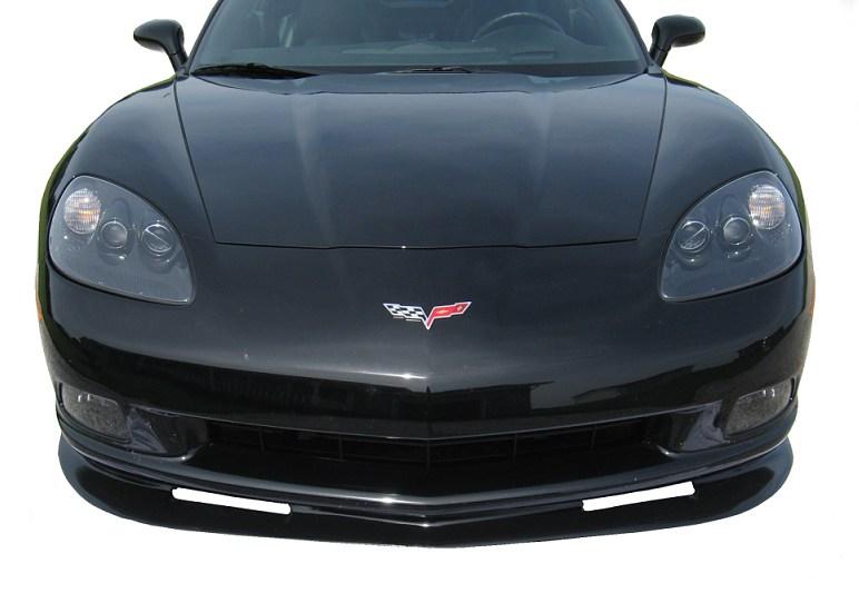 C6 Corvette 2005-2013 ZR1 Style Front Splitter Unpainted Standard Body